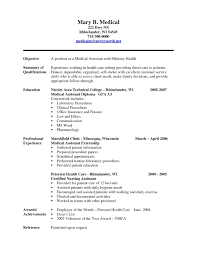 Resume Sample For Medical Assistant Resume Template for Medical assistant Free Download Medical 1
