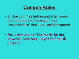 When Do I Use A Comma Do I Use A Comma Before And Math 9 Comma Comma Math Fjaasw