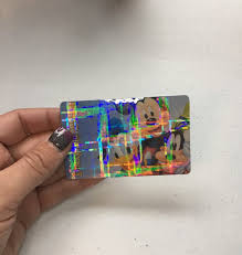 Glitter Pass Plaid Overlay Card Disney Sparkle Etsy Hologram
