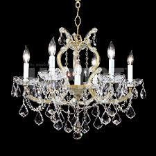 james moder 40256gl22 crystal maria theresa impact 6 light chandelier