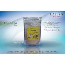 thanaka powder grade a 100gm for hair removal by haleys naturals