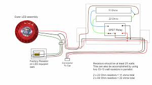 rtd led headlight wiring diagram wiring diagram heres a schematic of how its wired a fix for fast blinking led tail lights