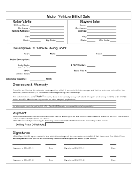 Dmv Bill Of Sale Printable Car Bill Of Sale PDF Bill Of Sale For Motor Vehicle 8