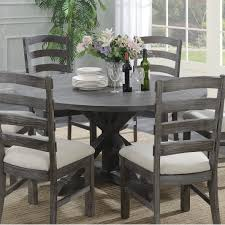Shop Emerald Home Paladin Rustic Charcoal Gray 60 Round Dining