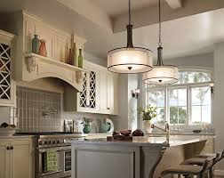 kichler lacey kitchen lighting gives this elegant cottage style kitchen a bright look