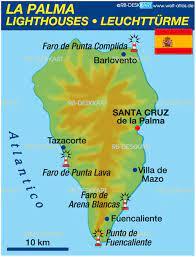 Arcgis es una plataforma de representación cartográfica que permite crear aplicaciones y mapas interactivos para compartir en tu organización o de forma pública. Karte Von Leuchtturme La Palma Themenkarte Welt Atlas De