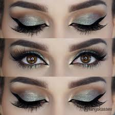 fashion makeup look for green eyes exceptional green silver makeup everyday eye shadow look pictures makeup look for green eyes