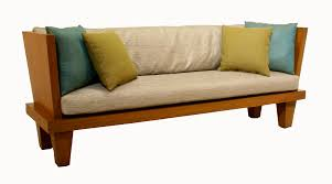 modern indoor wooden bench with low back and arms plus cushions gorgeous wood bench with
