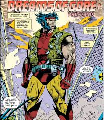 the grim n gritty 90s it s not quite as egregious as the ubiquitous belts and pouches but for wver reason wolverine is wearing some kind of utility