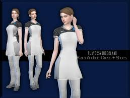 Kara Android Dress + Shoes at PW's Creations » Sims 4 Updates