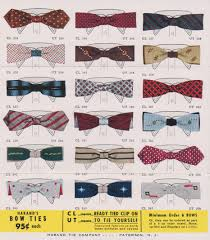 Haband Men S Size Chart Very Cool 50s Bow Ties From The Haband Tie Company Another