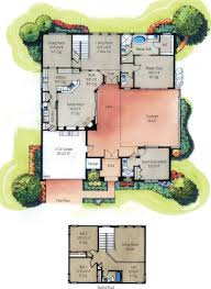 house with central courtyard garage plans small interior designs ideas contemporary plan modern spanish houses homes