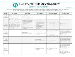 Motor And Social Development Chart Caregiver Education Team Collaboration Therapy Resources
