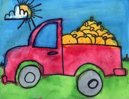 Fall Pickup Truck · Art Projects for Kids