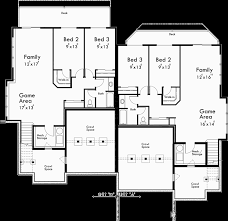 basement floor plan for d 577 craftsman duplex house plans luxury duplex house plans