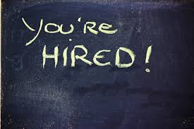 seven questions to ask before you hire an employee bellatrix pc you re hired chalkboard