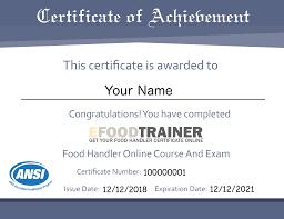efoodtrainer food handlers cards