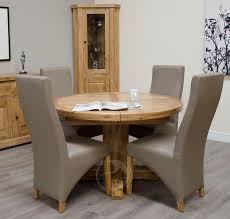 rustic round dining table uk coniston rustic solid oak round extending dining table on dining tables