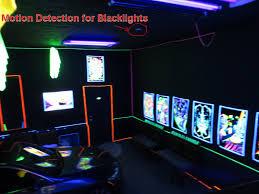 Motion Detection Blacklight Bulbs In Garage