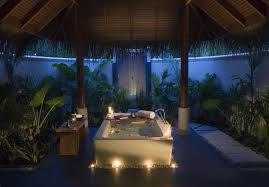relaxing atmosphere in a romantic bathtub