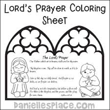 Our Father Coloring Book Catholic Coloring Pages
