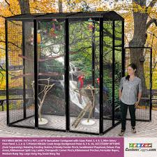 96 h x 90 l x 60 d large outdoor bird cage