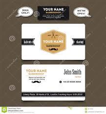 Barber Business Cards Design Hair Salon Barber Shop Business Card Design Template Stock