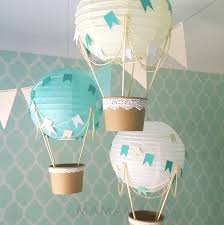 Whimsical Hot Air Balloon DIY Kit - Mint