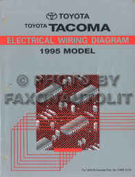 1995 toyota tacoma pickup wiring diagram manual original