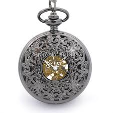 popular wind up pocket watches buy cheap wind up pocket watches h190 brand new antique style hand wind up mechanical watch black dial pocket watch for men
