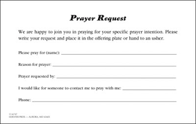 customer info card template prayer request card my healthy church