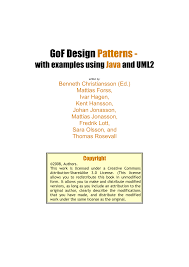 Gang Of Four Design Patterns Pdf Free Download Pdf Gof Design Patterns With Examples Using Java And Uml