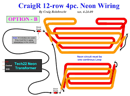 the b9 robot builders club craigr 12 row 4 pc neon wiring option a