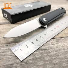 LDT MS4 Camping Knife D2 Blade G10 Handle Military Folding ...