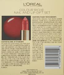 l oreal paris art of color holiday kit with colour riche lip and nail amazon in beauty