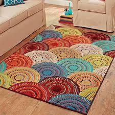 Contemporary Modern Multi-Colored Area Rug ~