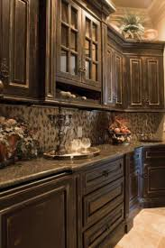 are distressed kitchen cabinets in style