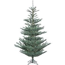 75 Ft Prelit Natural Cut Flocked Vermont Spruce Christmas Tree Blue Spruce Pre Lit Christmas Tree