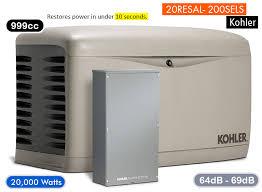 house generator.  Generator KOHLER20RESAL200SELSwholehousegenerator On House Generator H