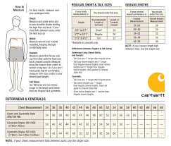Cabelas Sizing Charts Carhartt Mens Outerwear Overall