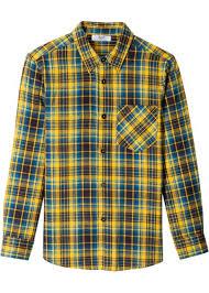 <b>Рубашка из фланели</b> с длинным рукавом шафранно-желтый ...