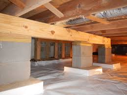 Crawlspace Helper #Beam to prevent the joists from sagging. http ...