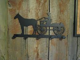 Western Coat Rack Horse And Wagon Coat Rack Metal Western Silhouette CabinHollow On 70
