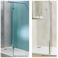 600mm wet room shower screen 10mm glass walk in panel inside small shower cubicle 600mm