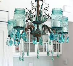 aqua mason jar chandelier glass clear bottle creative ways to light up jars
