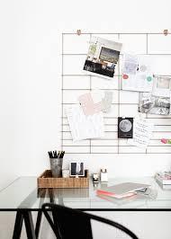 diy copper office grid organization
