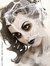 pretty ghost makeup for angelys dead bride look
