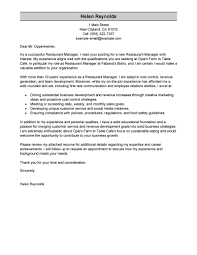 Leading Professional Restaurant Manager Cover Letter Examples