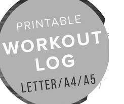 Workout Progress Charts Weight Loss Progress Chart Workout Chart Printable Digital Download