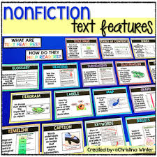 Nonfiction Text Features Anchor Chart Posters Worksheets
